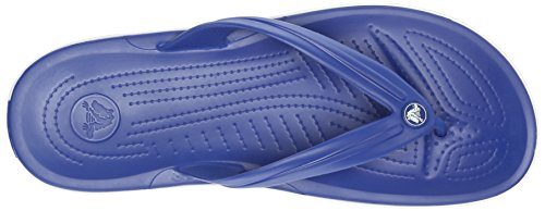 Crocs Band Flp, Tongs - Mixte adulte Bleu (Cerulean Blue/White)