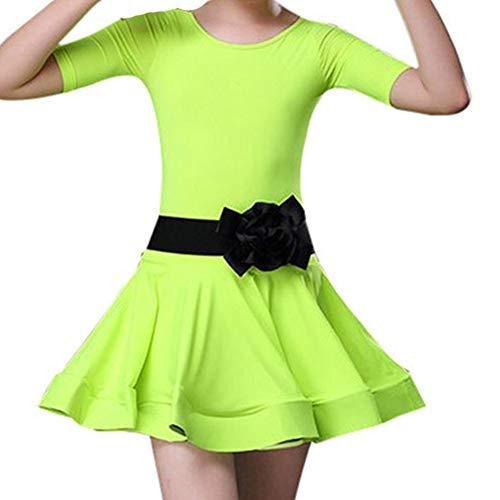 e Kleinkind Kinder Mädchen Latin Ballett Kleid Party Dancewear Ballsaal(Höhe100,Grün) ()