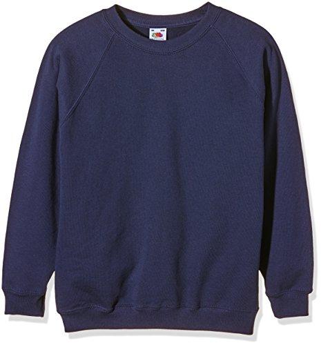 Fruit of the Loom Jungen Sweatshirt SS024B, Blau, 12-13 Jahre