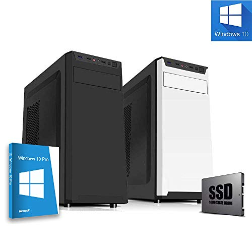 Pc desktop assemblato intel quadcore 2 Ghz,Ram 8gb,Ssd 240 Gb,Lettore masterizzatore,Windows 10,Computer fisso ufficio casa,Open Office,Antivirus,Pc desktop ssd