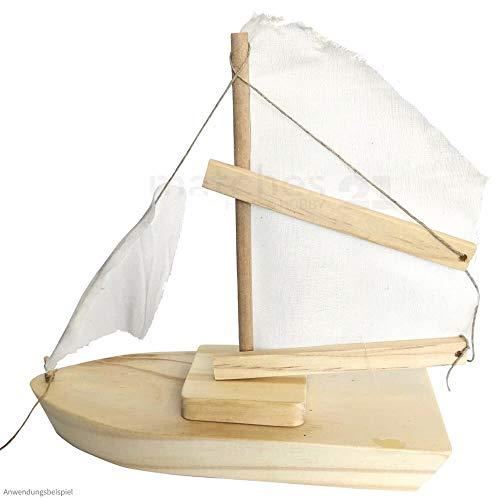 matches21 Segelschiff Schiff Boot einfacher Bausatz Holz Holzbausatz vorgefertigt Bastelset für Kinder ab 7 Jahre