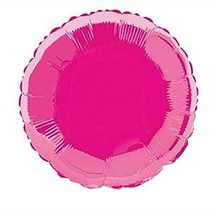 Unique Party Globo foil helio redondo Color rosa oscuro 45 cm 53337
