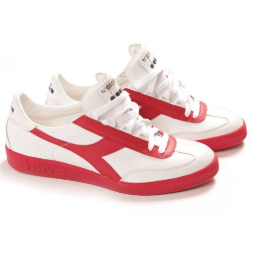 Diadora Heritage Borg Originals 1976 Heritage Collection Tennis Shoes (Red White) White & Red