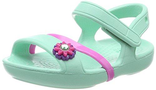 Crocs Lina Sandal Kids, Mädchen Sandalen, Blau (Mint), 29-30 EU (Leichte Sandalen Crocs)