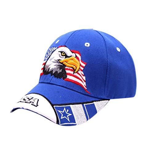 PinkLu Sommerhut Damen Eagles Monogramm-Stickerei Baseballmütze Hip Schirmmützen Druck Sonnenhut Sonnenschirm Visoren