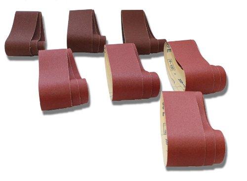 10-teiliges Premium Schleifband Set 50x686 mm Korn 60-400