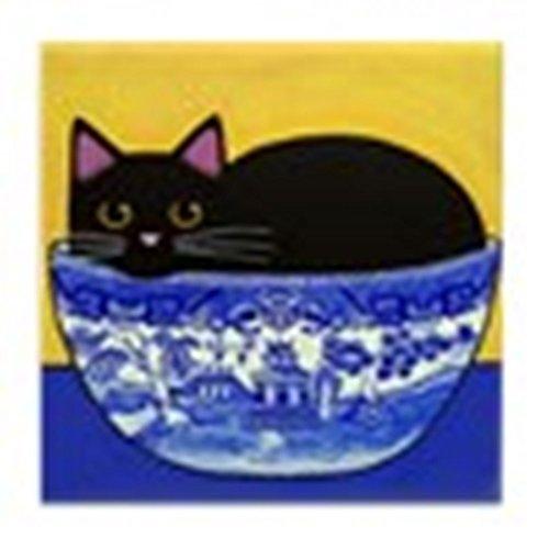 Blue Willow Schale ART Kachel/Fliese Untersetzer keine Marge ()