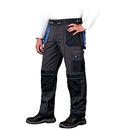 Schwere Leber - (Arbeitshose Bundhose Arbeitskleidung Schutzkleidung Grau Schwarz Blau Gr.46-62)
