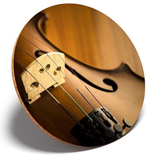 #3702 Untersetzer für Saiteninstrumente/Violine, rund, Geschenk für Küche, Student, Kinder, 1 Stück (Kind Größe Violine)