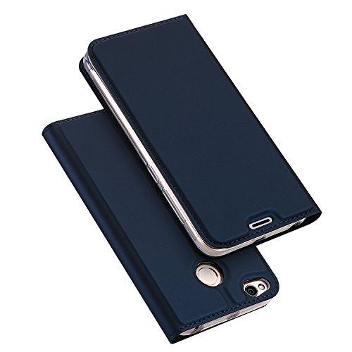 Xiaomi RedMi 4X Funda, SMTR Ultra Silm de PU Cuero Flip, Leather Wallet Case Cover Carcasa Funda con Ranura de Tarjeta Cierre Magnético y función de soporte para Xiaomi RedMi 4X, Azul