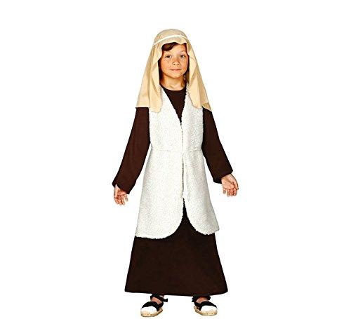 Schäfer Kostüm Krippenspiel für Kinder beige-braun mit Weste von Größe 92 bis 146 - komplettes Schäfer Kostüm für Kinder Jungen - Schäfer Kostüm Kinder