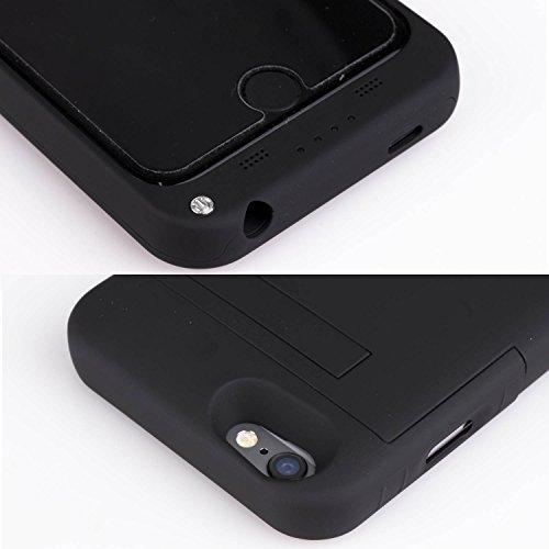 Cover Batteria iPhone 6s, SAVFY 3200mAh Custodia Cover Protettiva con Batteria Esterna integrata per iPhone 6/6s 4.7 Power Bank Backup Battery Charger Case Nero 2017 Nero 2017