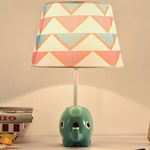 EFGS Elephant Shape Resin Lámpara de Mesa para niñas, niños como decoración, D