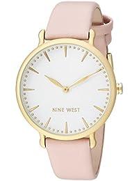 Nine West Women's Quartz Metal and Polyurethane Dress Watch, Color:Pink (Model: NW/2110WTPK)