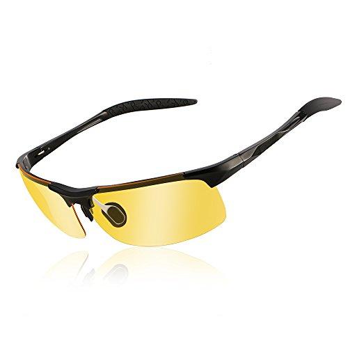 Hochwertige Piloten-Sonnenbrille mit polarisierten Gläsern und Edelstahlrahmen inkl. Etui, Reinigungstuch und Tester, UV400 in 7 verschiedenen Farben (silver classic chassis)