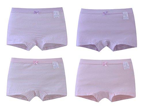 ABClothing 4PCS scherzt Mädchen-Nette Schlüpfer-Boxer-Schriftsatz-Unterwäsche-Kurzschluss-Boyshort-Unterhose 3T -