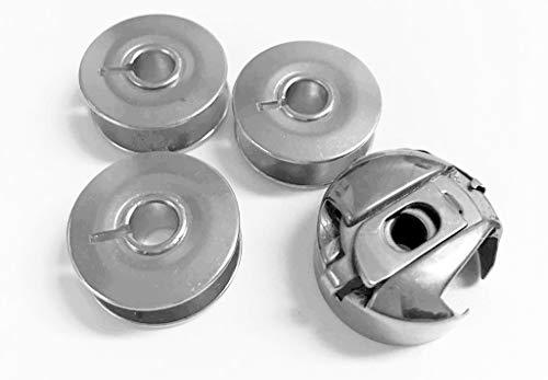 Spulenkapsel 6 mm und 3 Metallspulen für PFAFF Nähmaschine -
