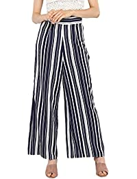 bad406d2c99 Spotstyl blue white knotted tie up high waisted bottoms for women bottoms wear  women bottoms stylish women