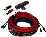 Aerzetix - Kit cavi cablaggio per montaggio amplificatore auto alimentazione 10 mm² suono fusibile RCA .