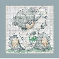 Dressing Up-Kit per punto croce, motivo orsetto Luca-s (15,5 cm x 15 cm) B123