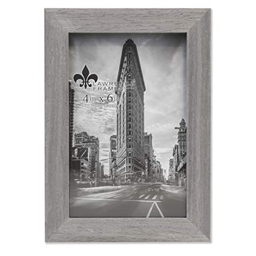 Lawrence Frames Soho Bilderrahmen, Holzmaserung, 10 x 15 cm, Grau
