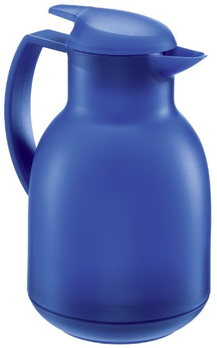 Leifheit 28343 Bolero Thermal Insulated Vacuum Jug Plastic Dark Blue 1 Litre