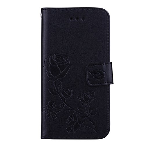 Casefirst iPhone 7 iPhone 8 Wallet Case, Stylish Slim PU Leather Pouch Stand and Card Holders Wallet Phone Cover Skins Protective Case for iPhone 7 iPhone 8 -Black Air Cushion Light Stand