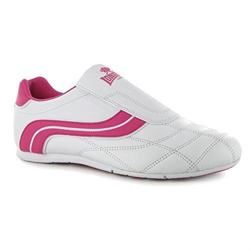 Lonsdale Ladies Benn Sneakers Ladies Flat White / Cerise