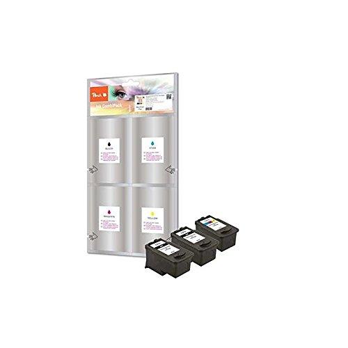 Preisvergleich Produktbild Peach Spar Pack Plus Druckköpfe kompatibel zu Canon PG-512, CL-513