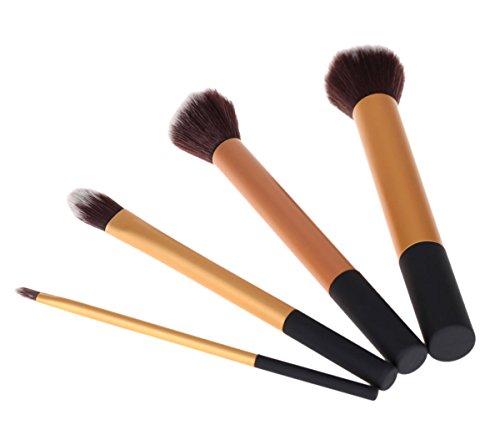 TRIXES Ensemble de 4 Objets Pinceaux de Maquillage pour Poudre de Fond de Teint dans une Pochette à Suspendre