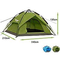 Climecare Outdoor Leichtes Pop up Wurfzelt 3-4 Personen Zelt Camping Festival 240 x 210 x 135 cm Verschiedene Farben