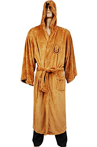 Peignoir à capuche 'Star Wars' – Jedi Tan Logo – Adulte – Taille Unique
