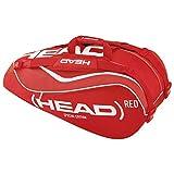 Head Tour Team Combi-Borsa per 6 racchette, colore: rosso