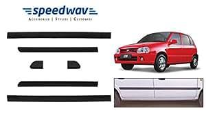 Speedwav Car Original Side Beading Matt BLACK - Maruti Zen Old