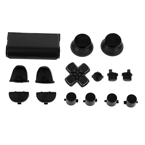 Magideal Button Mod Grip Kit Set for Sony PS4 Playstation Controller Black  available at amazon for Rs.210