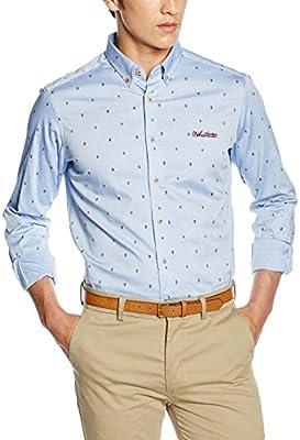 Spagnolo, Camisa Oxford Estampado Boton Slim 1125 - Camisa para hombre