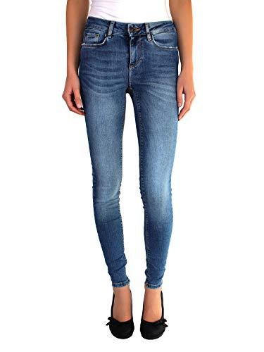 dd7ca5dd214b VERO MODA Damen Lux NW Super Slim Jeans, 28W 32L, Blau (Herstellergröße  XS/32)