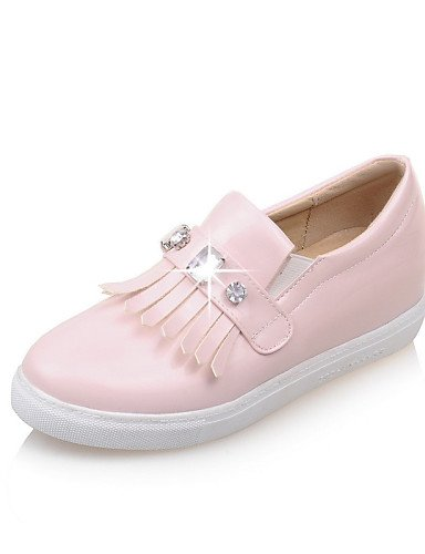 ZQ Scarpe Donna - Mocassini - Tempo libero / Casual / Formale - Punta arrotondata - Piatto - Vernice - Nero / Rosa / Bianco , pink-us10.5 / eu42 / uk8.5 / cn43 , pink-us10.5 / eu42 / uk8.5 / cn43 white-us4-4.5 / eu34 / uk2-2.5 / cn33