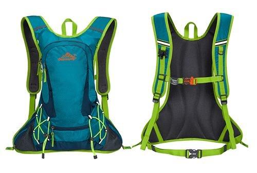 reiten fahrrad fahren oder rucksack tasche rucksack flüssigkeitszufuhr rucksack für outdoor - sportarten laufen reisen bergsteigen mit helm netto wasserdicht atmungsaktive ultralight 18l 5farben Yellow