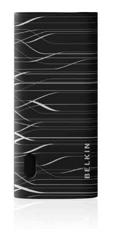 Belkin Grip Pulse Laser-Etched Silikon Schutzhülle (geeignet für Apple iPod nano 5G) schwarz/klar