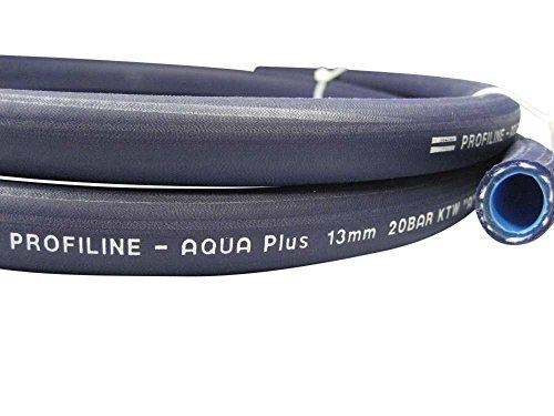 Trinkwasserschlauch Profiline-Aqua Plus nach KTW-A, W270, Meterware: 1m bis 50m, 4 Abmessungen von 3/8' bis 1' für mobile Trinkwasserversorgungen, Schlauchabmessung:13 mm (1/2 Zoll)