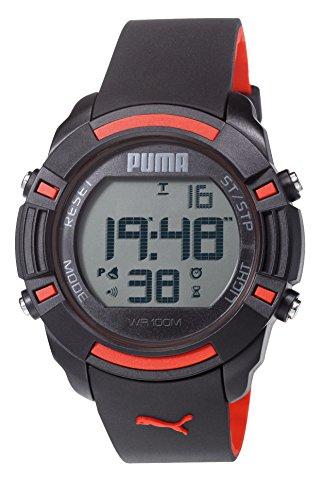 Puma Unisex reloj infantil con mecanismo de Digital Bytes pantalla Digital Coronado controls y negro correa de PU PU911221001