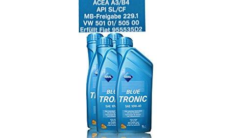 4x 1 L LITER ARAL BLUETRONIC BLUE TRONIC 10W-40 MOTOR-ÖL MOTOREN-ÖL 31736478