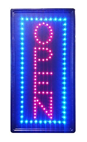 10x19 Animated LED Neon Light Vertical Open08 Sign, 2 On/off Switches + Chain by CONSTRUCTOR