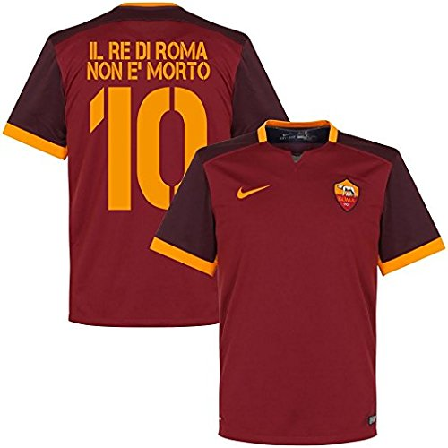 AS Rom Home Trikot 2015 2016 + Il Re Di Roma Non E'Morto 10 - XL