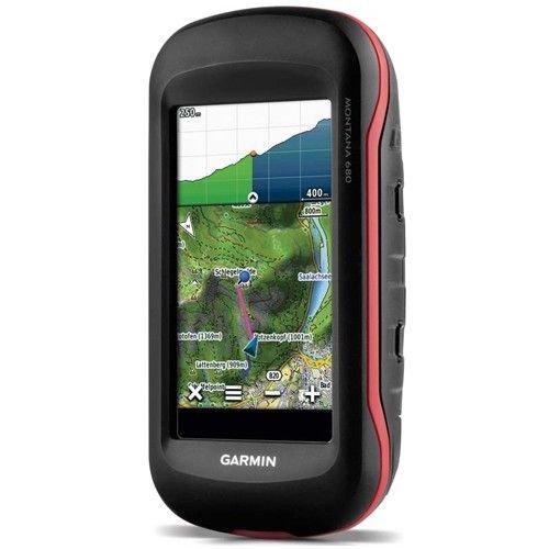 """Garmin Montana 680 GPS Portatile, Schermo da 4"""" Touch, Camera da 8 MP, Nero/Arancio"""