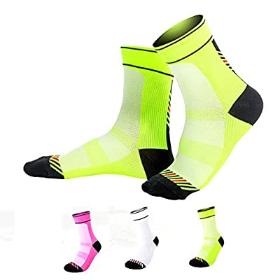 Heoda Coolmax and Elastic Compressed Sports Socks Running Socks For Men and Women