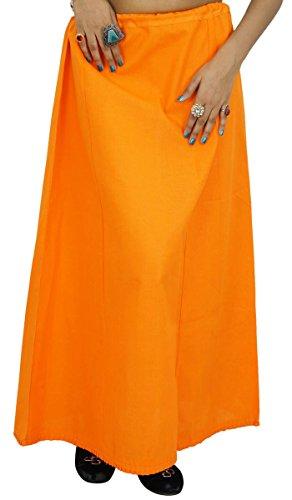 Indische Frauen tragen Cotton Bollywood Petticoat Solide Inskirt Futter für Sari (Indische Sari Tragen)