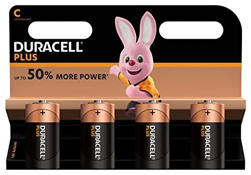 Duracell Plus C Baby Alkaline Batterien LR14, 4er Pack
