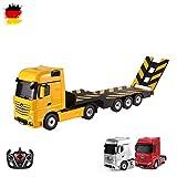 MERCEDES-BENZ ACTROS-RC, camion con cassone, 2,4GHz Edition, camion trasportatore, Truck, veicolo, motore Sound, LED, completo di set ink. Telecomando
